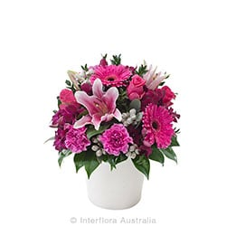 BERRY DELIGHT Mixed arrangment in a ceramic pot AUS 702