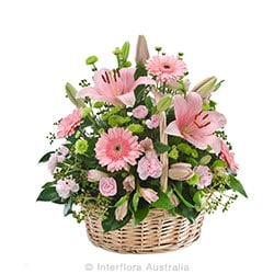 ENDEARMENT Sympathy basket suitable for home or service AUS 835