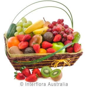 FRUIT DELIGHT BASKET OF SEASONAL FRUITS AUS334