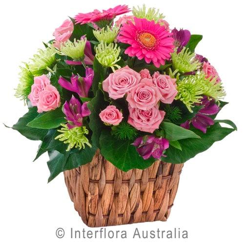 Jazz Mixed Flower Basket