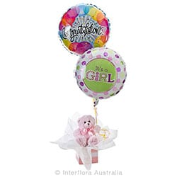 LOLA Teddy bear with helium balloons AUS 744