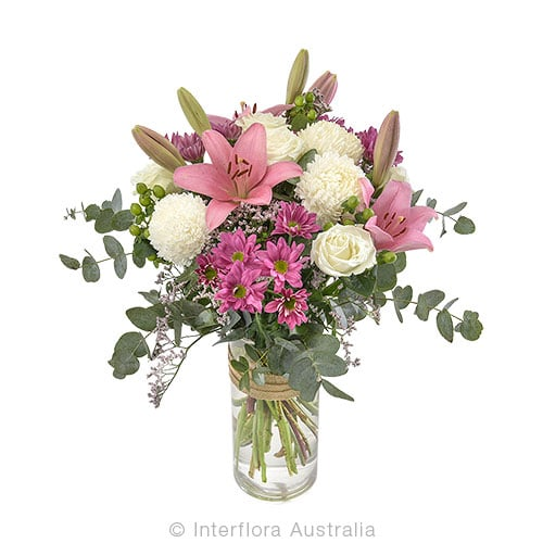 MARINA Large bouquet in a glass vase CODE SA246