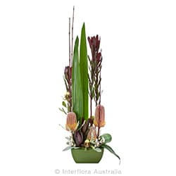 WILDERNESS Modern arrangement of wild flowers in ceramic container AUS 815