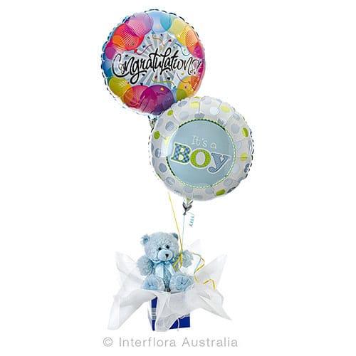 Charlie Bear and Balloons