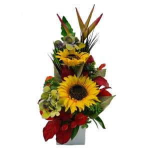 sunflower silk arrangement